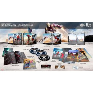 SPIDER-MAN: HOMECOMING 4K+3D+2D Limited Edition Exclusive Steelbook IRON MAN Slipcover Numbered (4K UHD BLU-RAY + BLU-RAY 3D + BLU-RAY 2D)