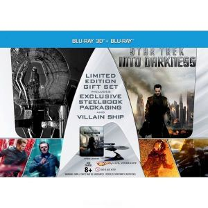 STAR TREK INTO DARKNESS 3D Limited Collector's Edition Steelbook + VILLAIN SHIP Gift Set [Imported] (BLU-RAY 3D + BLU-RAY)