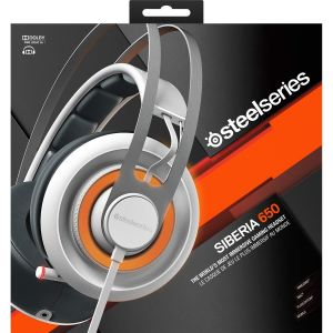STEELSERIES - HEADSET SIBERIA 650 WHITE 51192 (PC, Mac, PS4, Mobile)
