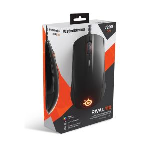 STEELSERIES - MOUSE RIVAL 110 BLACK 62466 (PC, Mac, Linux)