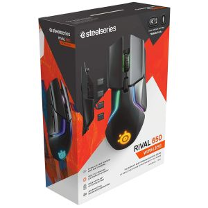 STEELSERIES - MOUSE RIVAL 650 WIRELESS BLACK (PC, Mac)