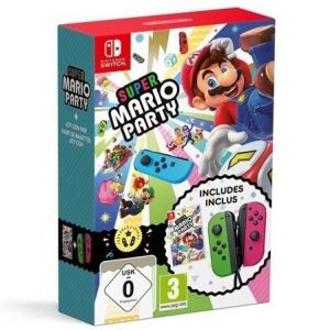 SUPER MARIO PARTY + JOY-CON PAIR Neon Green/Pink BUNDLE (NSW)