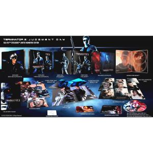 TERMINATOR 2: JUDGEMENT DAY 4K+2D Limited Collector's Numbered XL Edition Exclusive Steelbook + BOOKLET + Character & Special CARDS [ΧΩΡΙΣ ΕΛΛΗΝΙΚΟΥΣ ΥΠΟΤΙΤΛΟΥΣ] (4K UHD BLU-RAY + 2 BLU-RAY 2D)