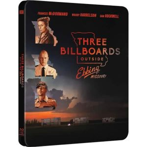 THREE BILLBOARDS OUTSIDE EBBING, MISSOURI Limited Edition Steelbook (BLU-RAY)