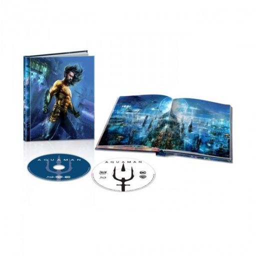 AQUAMAN 3D+2D Limited Edition Digibook ΑΠΟΚΛΕΙΣΤΙΚΟ (BLU-RAY 3D + BLU-RAY 2D)
