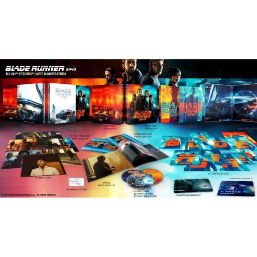 BLADE RUNNER 2049 3D+2D Limited Collector's Numbered Edition Exclusive Steelbook + PHOTOBOOK + Art & Character CARDS (BLU-RAY 3D + BLU-RAY 2D + BLU-RAY BONUS)