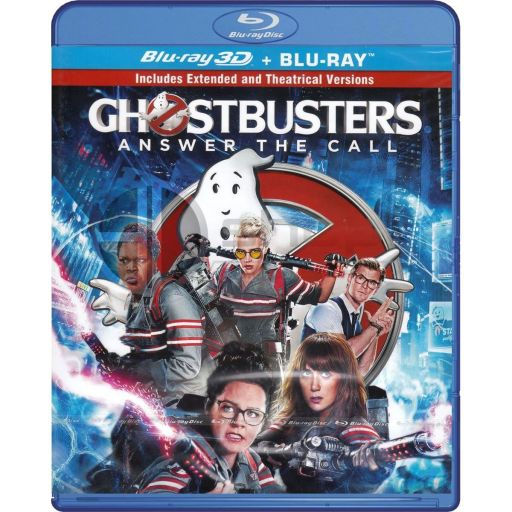 GHOSTBUSTERS [2016] 3D (BLU-RAY 3D + BLU-RAY) ***SONY EXCLUSIVE***