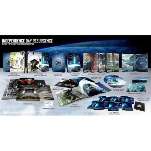 INDEPENDENCE DAY: RESURGENCE 3D - ΗΜΕΡΑ ΑΝΕΞΑΡΤΗΣΙΑΣ: ΝΕΑ ΑΠΕΙΛΗ 3D Limited Collector's Numbered Edition Steelbook + PHOTOBOOK (BLU-RAY 3D + BLU-RAY)