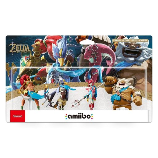 NINTENDO AMIIBO Φιγούρα: FOUR CHAMPIONS PACK The Legend Of Zelda: Breath Of The Wild Series