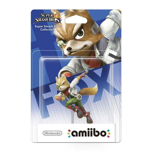 NINTENDO AMIIBO Figure: FOX No.6 Super Smash Bros. Series