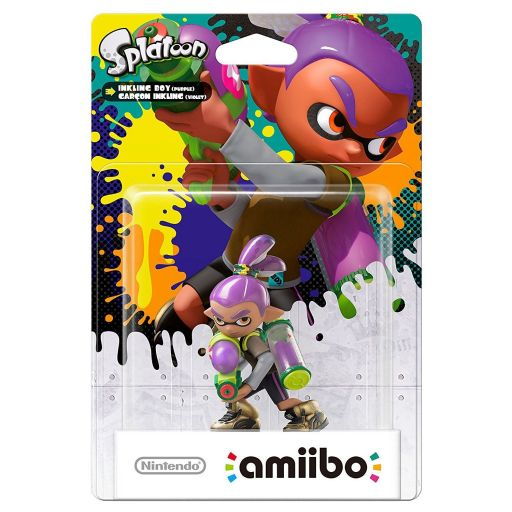 NINTENDO AMIIBO Φιγούρα: INKLING BOY PURPLE Splatoon Series