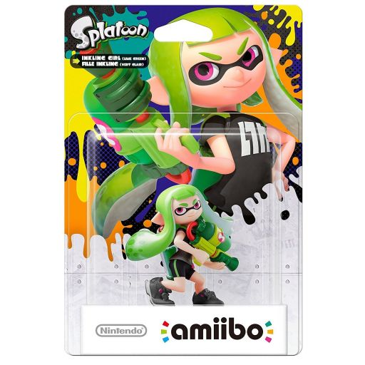 NINTENDO AMIIBO Φιγούρα: INKLING GIRL LIME GREEN Splatoon Series