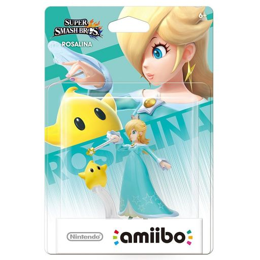 NINTENDO AMIIBO Figure: ROSALINA & LUMA No.19 Super Smash Bros. Series
