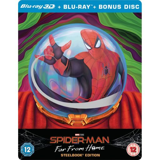 SPIDER-MAN: FAR FROM HOME 3D+2D - SPIDER-MAN: ΜΑΚΡΙΑ ΑΠΟ ΤΟΝ ΤΟΠΟ ΤΟΥ 3D+2D Limited Edition Steelbook VISUAL #1 ΑΠΟΚΛΕΙΣΤΙΚΟ (BLU-RAY 3D + BLU-RAY 2D + BLU-RAY BONUS)