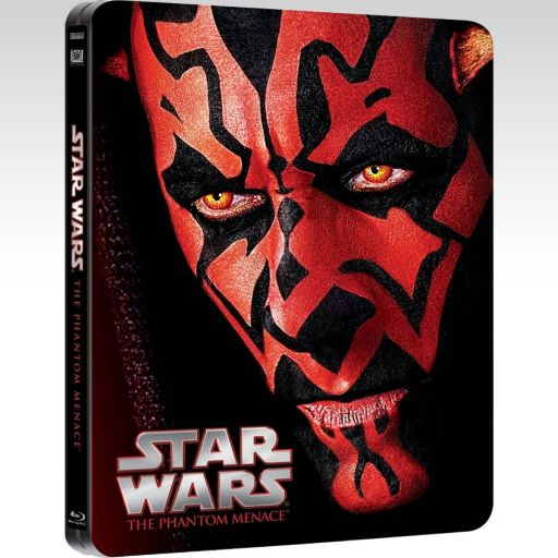 STAR WARS EPISODE I: THE PHANTOM MENACE Limited Edition Steelbook [Εισαγωγής ΜΕ ΕΛΛΗΝΙΚΟΥΣ ΥΠΟΤΙΤΛΟΥΣ] (BLU-RAY)