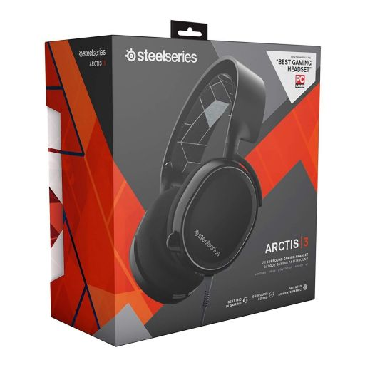 STEELSERIES - HEADSET ARCTIS 3 BLACK 61433 (PC, Mac, PS4, XBOX One, Switch, Mobile)
