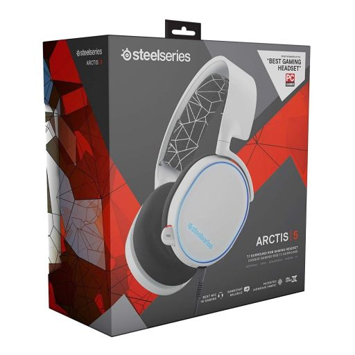 STEELSERIES - HEADSET ARCTIS 5 WHITE 61444 (PC, Mac, PS4, XBOX One, Switch, Mobile)