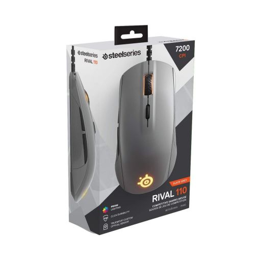 STEELSERIES - MOUSE RIVAL 110 SLATE GREY (PC, Mac, Linux)