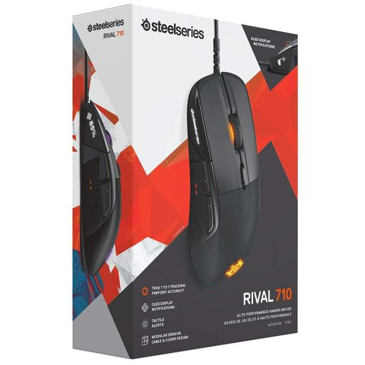 STEELSERIES - MOUSE RIVAL 710 BLACK (PC, Mac)
