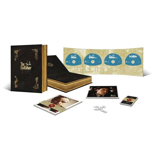 THE GODFATHER TRILOGY - 45th Anniversary OMERTA Limited Collector's EDITION [Εισαγωγής ΜΕ ΕΛΛΗΝΙΚΟΥΣ ΥΠΟΤΙΤΛΟΥΣ] (4 BLU-RAYs)