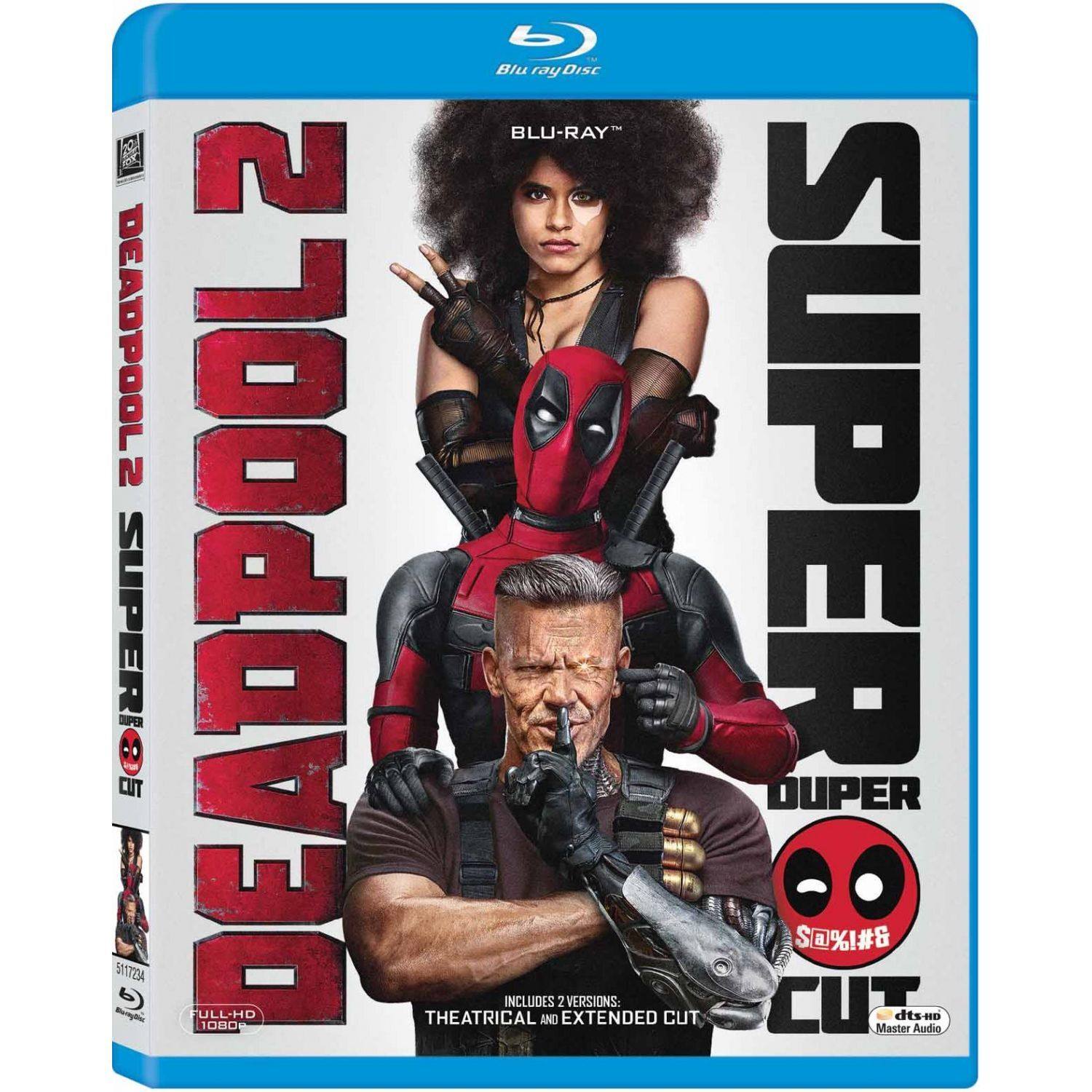 Deadpool 2 Theatrical Extended Super Duper Cut 2 Blu Ray