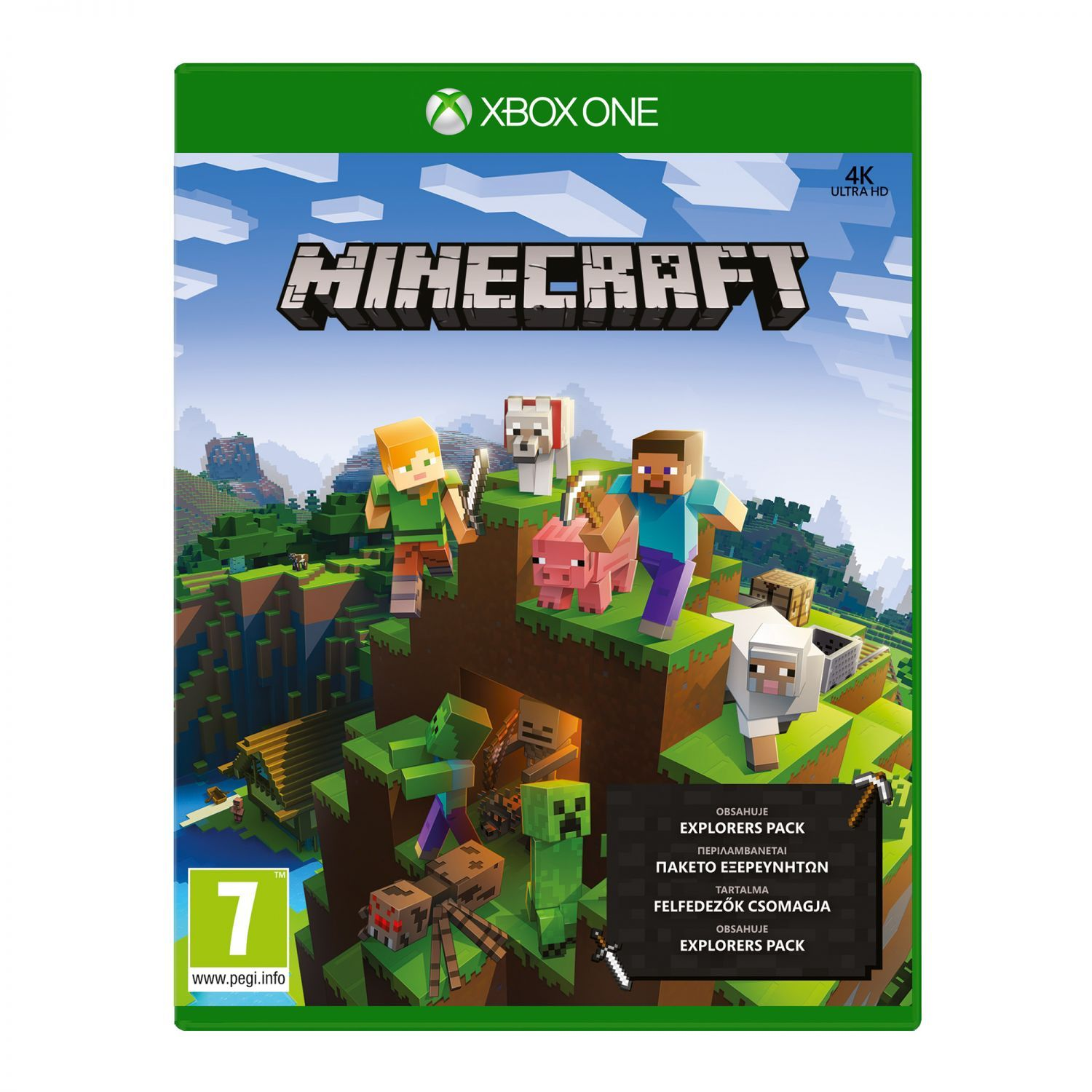 minecraft explorers pack xbox one blu. Black Bedroom Furniture Sets. Home Design Ideas