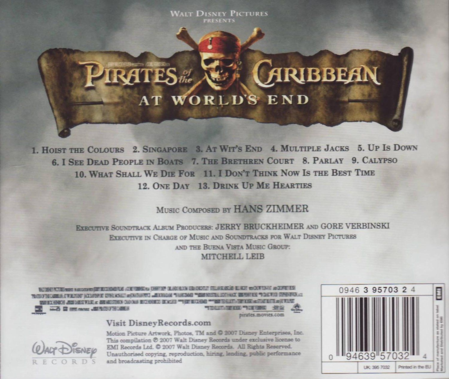 PIRATES OF THE CARIBBEAN 3: AT WORLD'S END - ORIGINAL MOTION