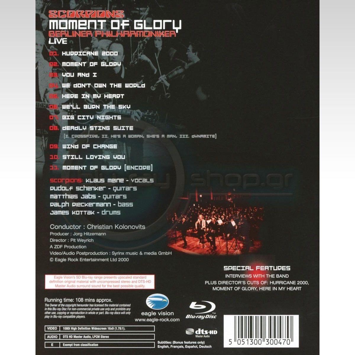SCORPIONS: MOMENT OF GLORY [SD UPSCALED] (BLU-RAY) | HD-shop gr