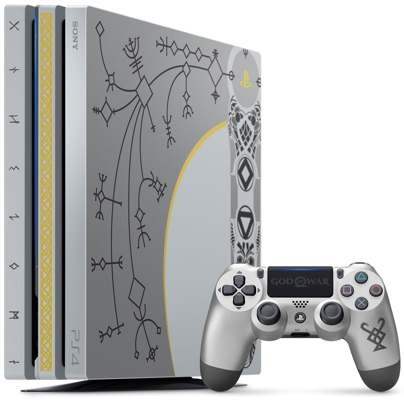 Sony Ps4 Console Pro 1tb Cuh 7116b Leviathan Grey God Of War Limited Stik New Model Glacier White Edition