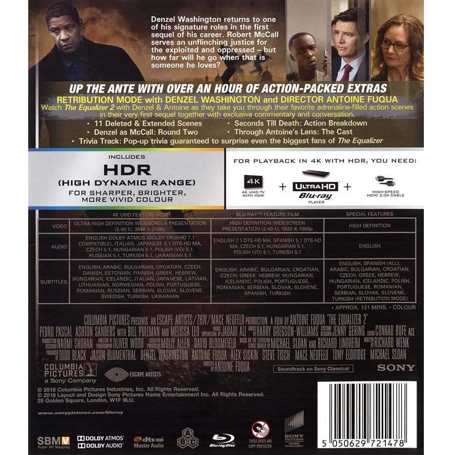 THE EQUALIZER 2 4K+2D (4K UHD BLU-RAY + BLU-RAY 2D) | HD-shop gr