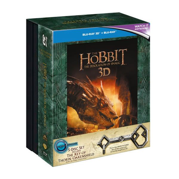 THE HOBBIT: THE DESOLATION OF SMAUG 3D Extended + KEY OF EREBOR