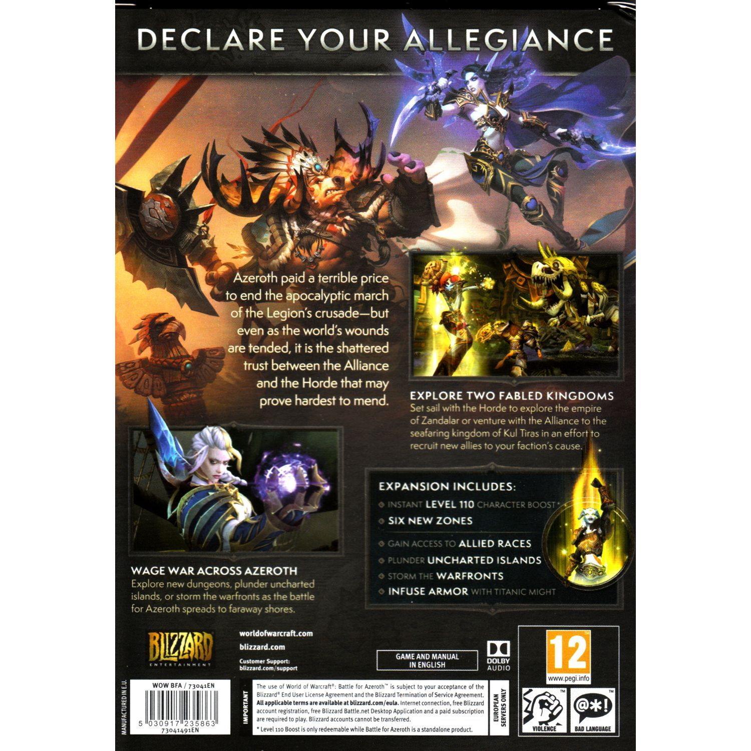 WORLD OF WARCRAFT: BATTLE FOR AZEROTH - Standard Edition (PC) | HD
